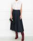 Джинсовая юбка миди из хлопка Weekend Max Mara  –  МодельОбщийВид