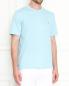 Однотонная футболка из хлопка Brooks Brothers  –  МодельВерхНиз