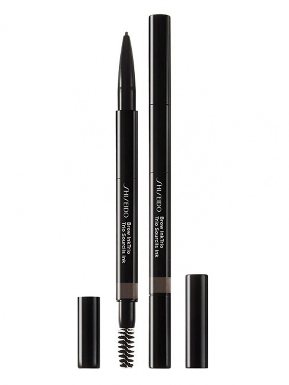 SHISEIDO Моделирующий карандаш для бровей 3-в-1 InkTrio, 03 DEEP BROWN, 0.25 г Shiseido  –  Общий вид