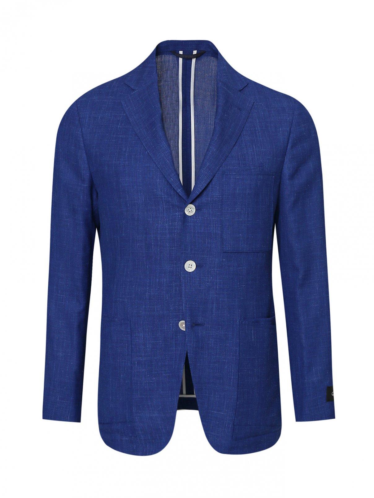 Пиджак однобортный из шерсти Belvest  –  Общий вид
