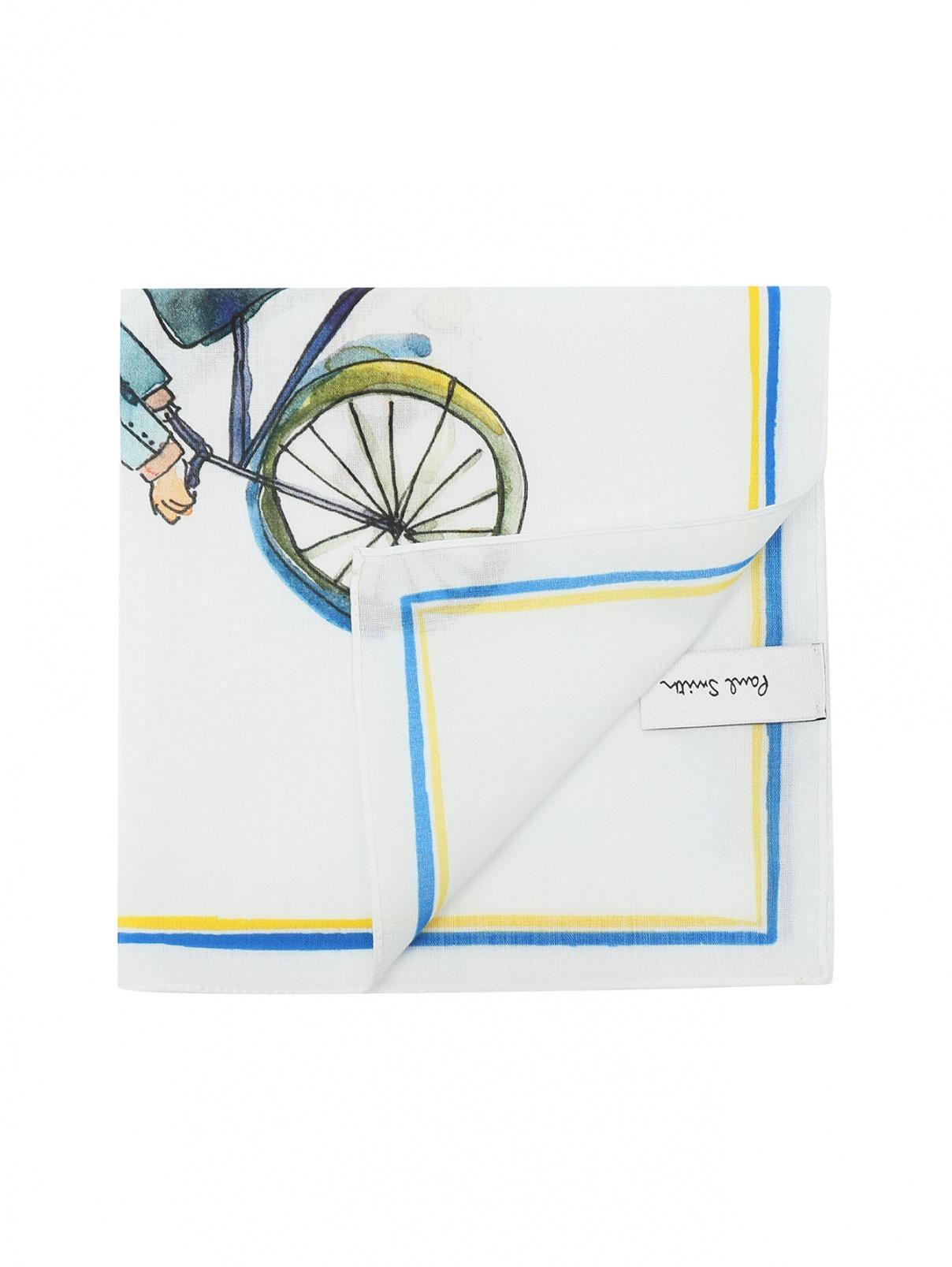 Карманный платок из хлопка с принтом Paul Smith  –  Общий вид