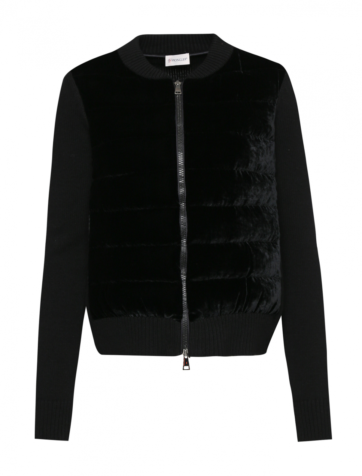Куртка из шерсти и кашемира с бархатной вставкой Moncler  –  Общий вид