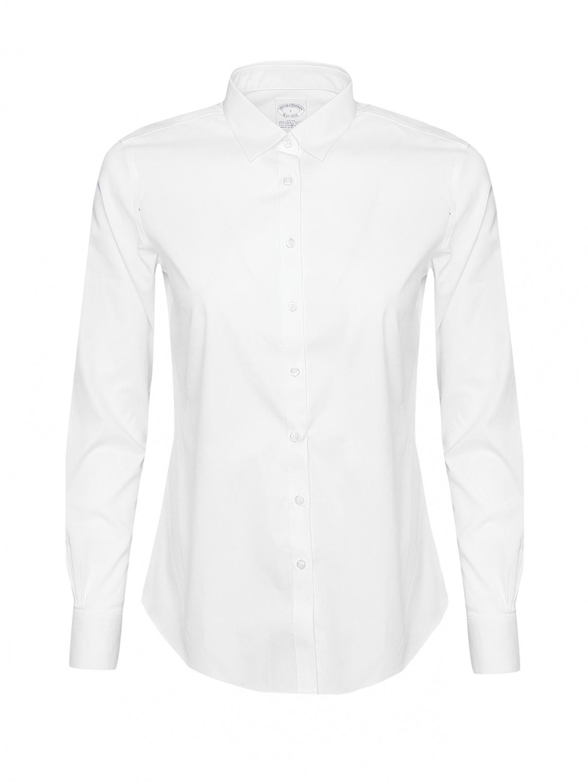 Рубашка хлопковая прямого силуэта Brooks Brothers  –  Общий вид