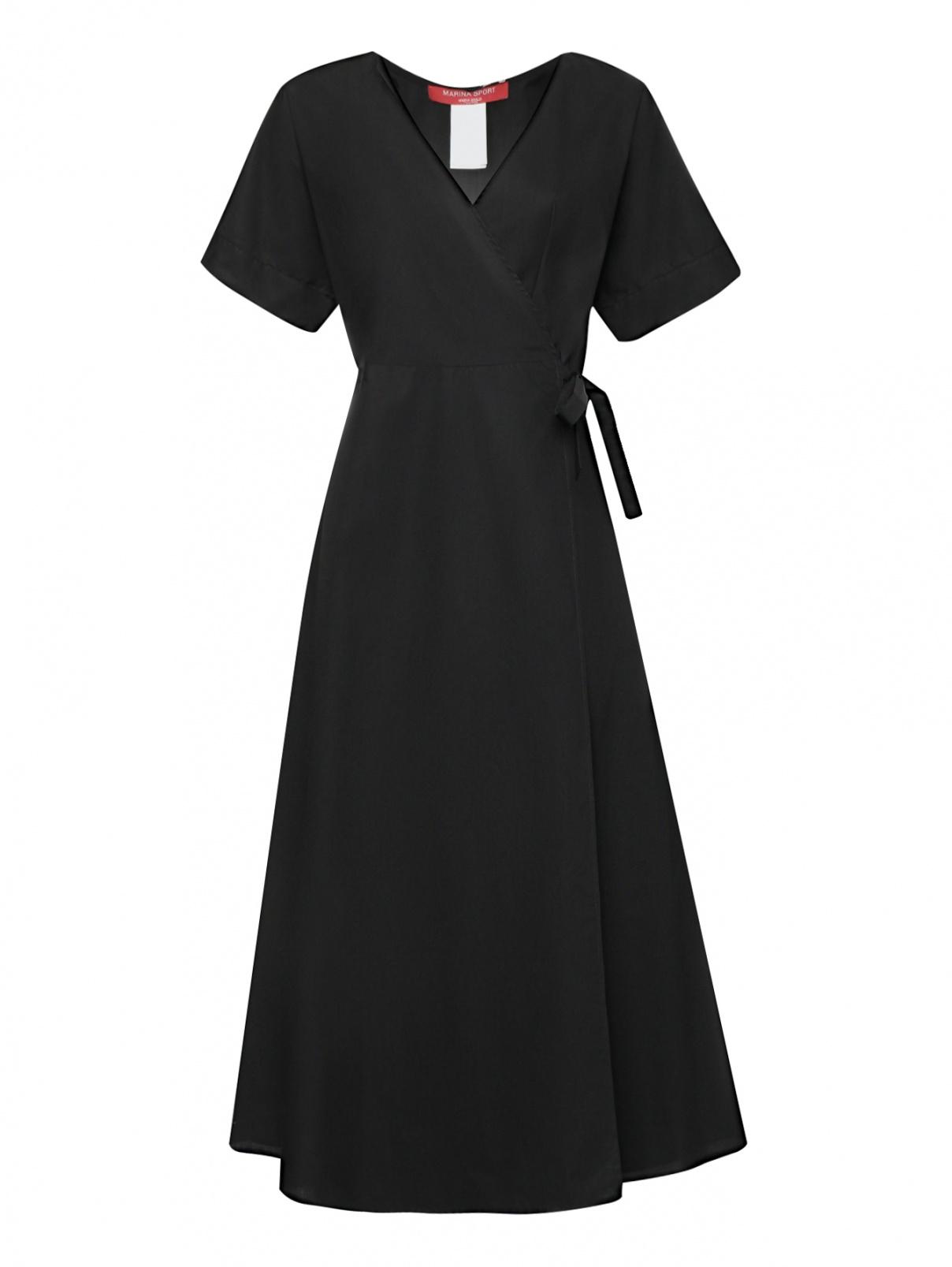 Платье-миди из хлопка с короткими рукавами Marina Rinaldi  –  Общий вид