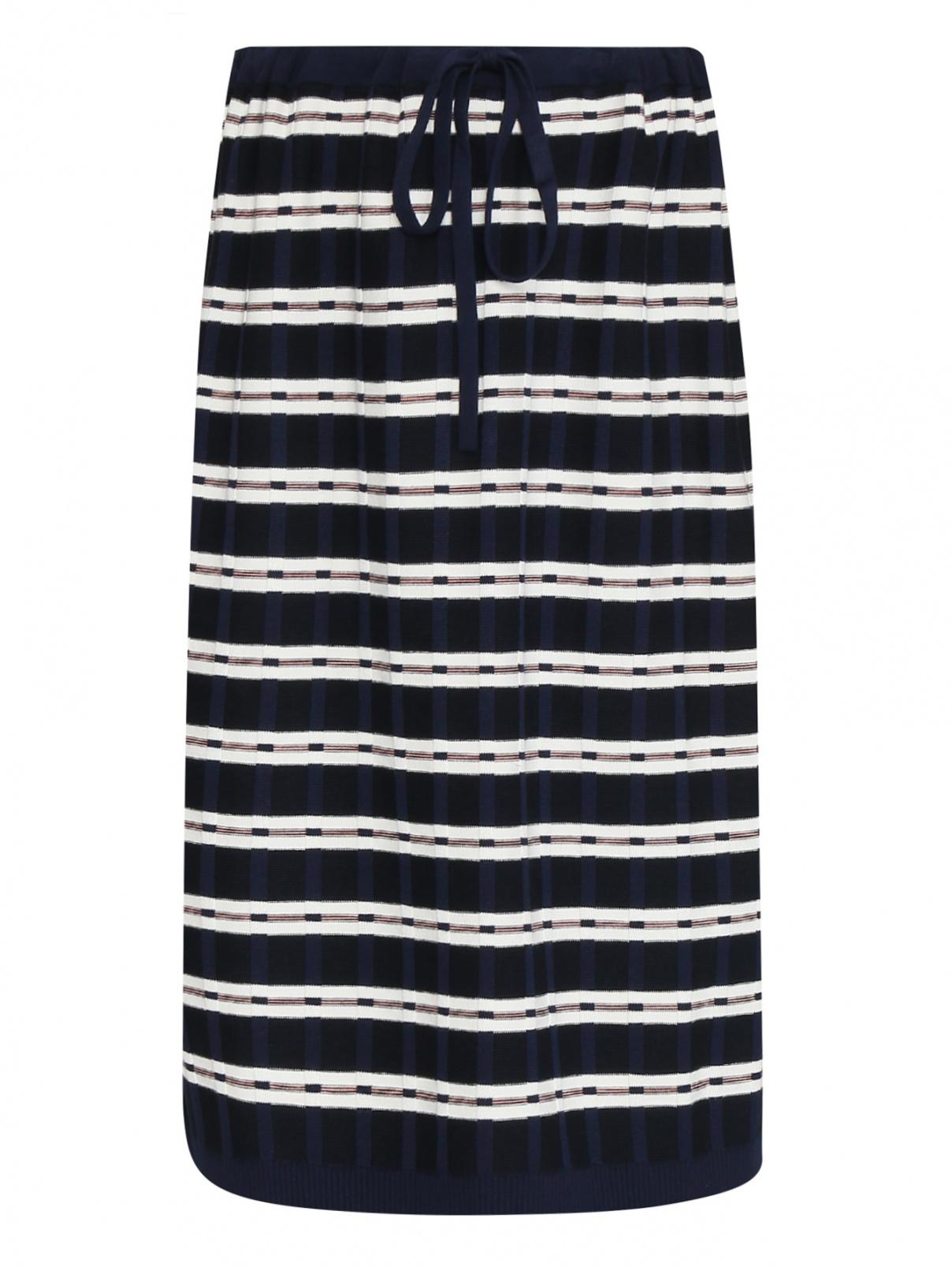Трикотажная юбка с узором полоска Max&Co  –  Общий вид