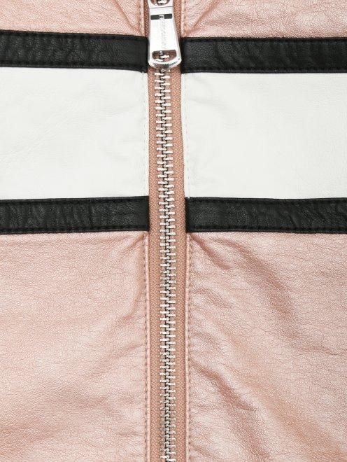 Куртка из экокожи в байкерском стиле Freedomday - Деталь