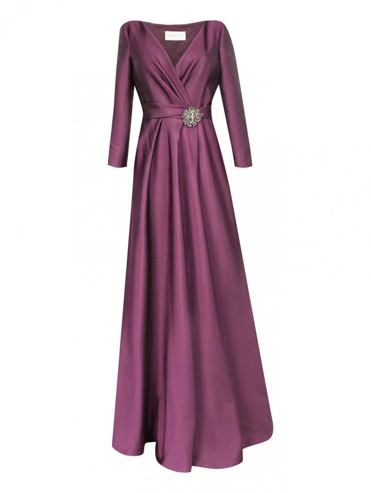 Платье-макси и декоративной отделкой Alberta Ferretti  –  Общий вид