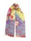 Шарф из кашемира и шелка с цветочным узором Etro  –  Общий вид