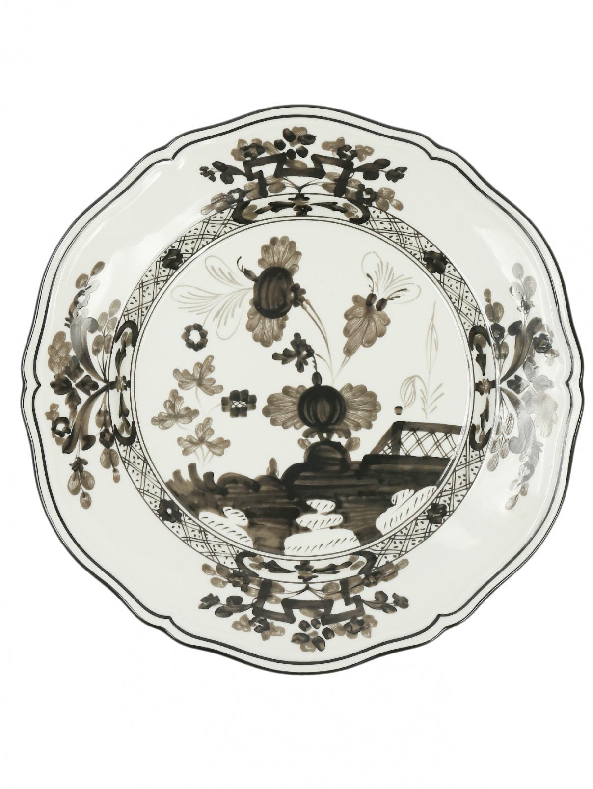 Тарелка обеденная из фарфора с узором и окантовкой Richard Ginori 1735  –  Общий вид
