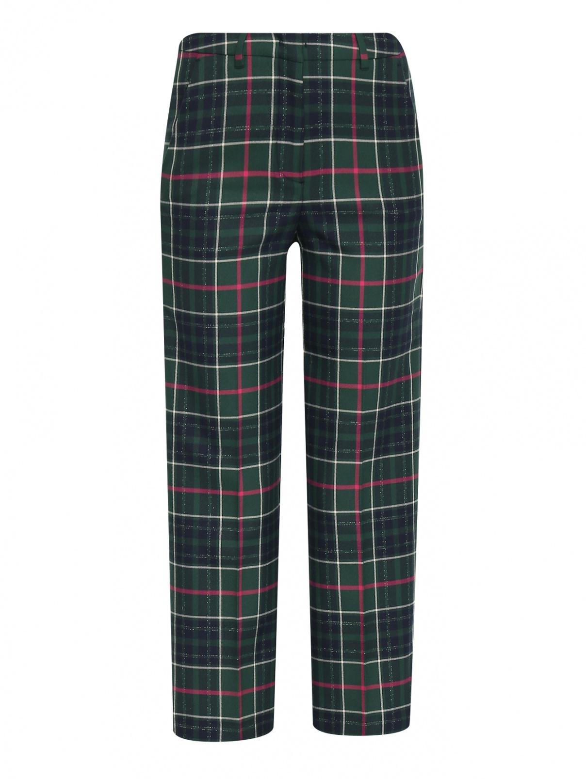 Укороченные брюки с узором клетка Max&Co  –  Общий вид
