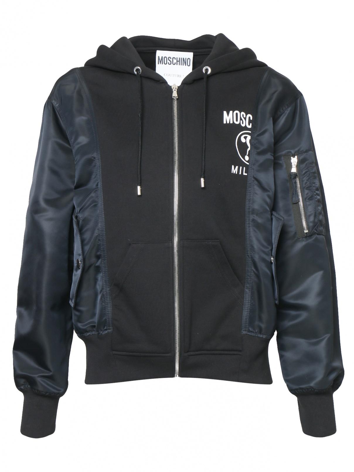 Куртка на молнии с принтом Moschino  –  Общий вид