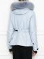 Укороченная пуховая куртка на поясе Moncler  –  МодельВерхНиз1