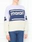 Свитшот из хлопка с принтом Isabel Marant  –  МодельВерхНиз