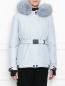 Укороченная пуховая куртка на поясе Moncler  –  МодельВерхНиз