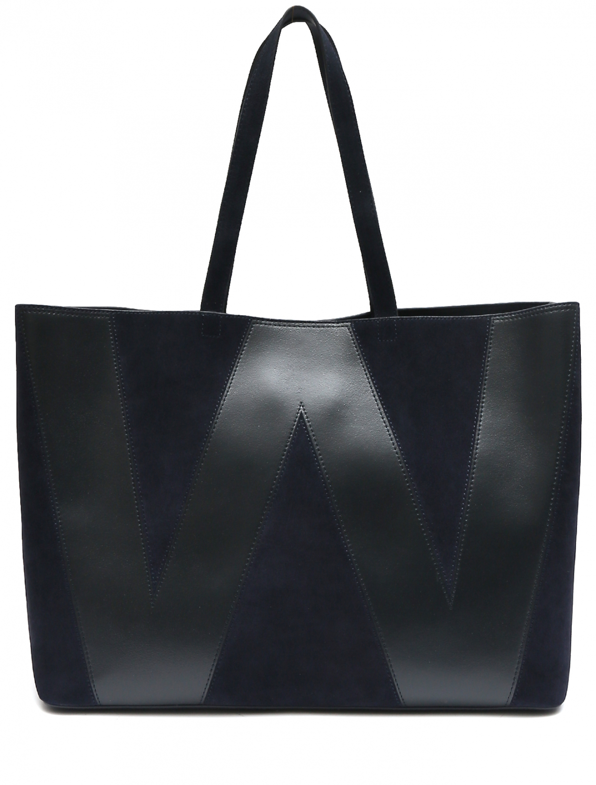 Комбинированная сумка из кожи Weekend Max Mara  –  Общий вид