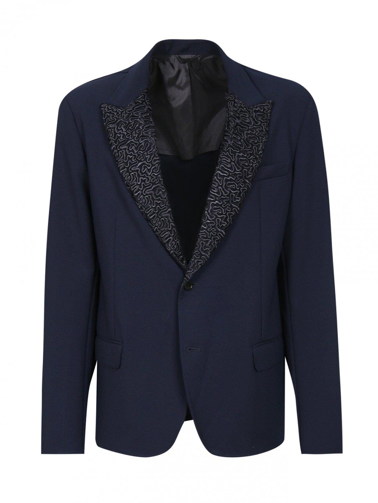 Пиджак однобортный с декором Ermanno Scervino  –  Общий вид