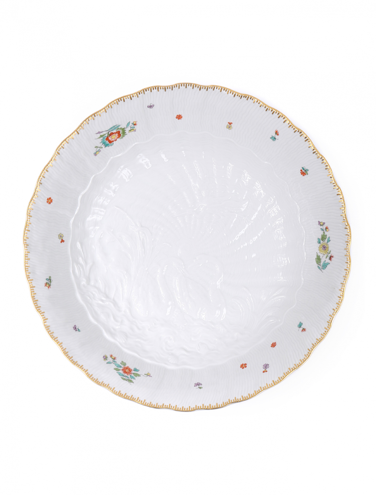 Тарелка  сервировочная с барельефом лебеди Meissen  –  Общий вид