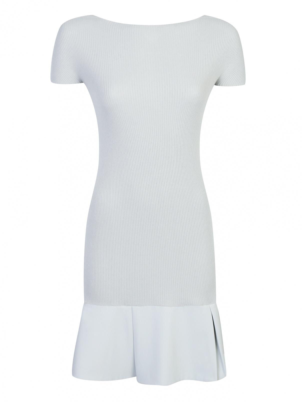 Трикотажное платье-мини с вырезом на спине Emporio Armani  –  Общий вид