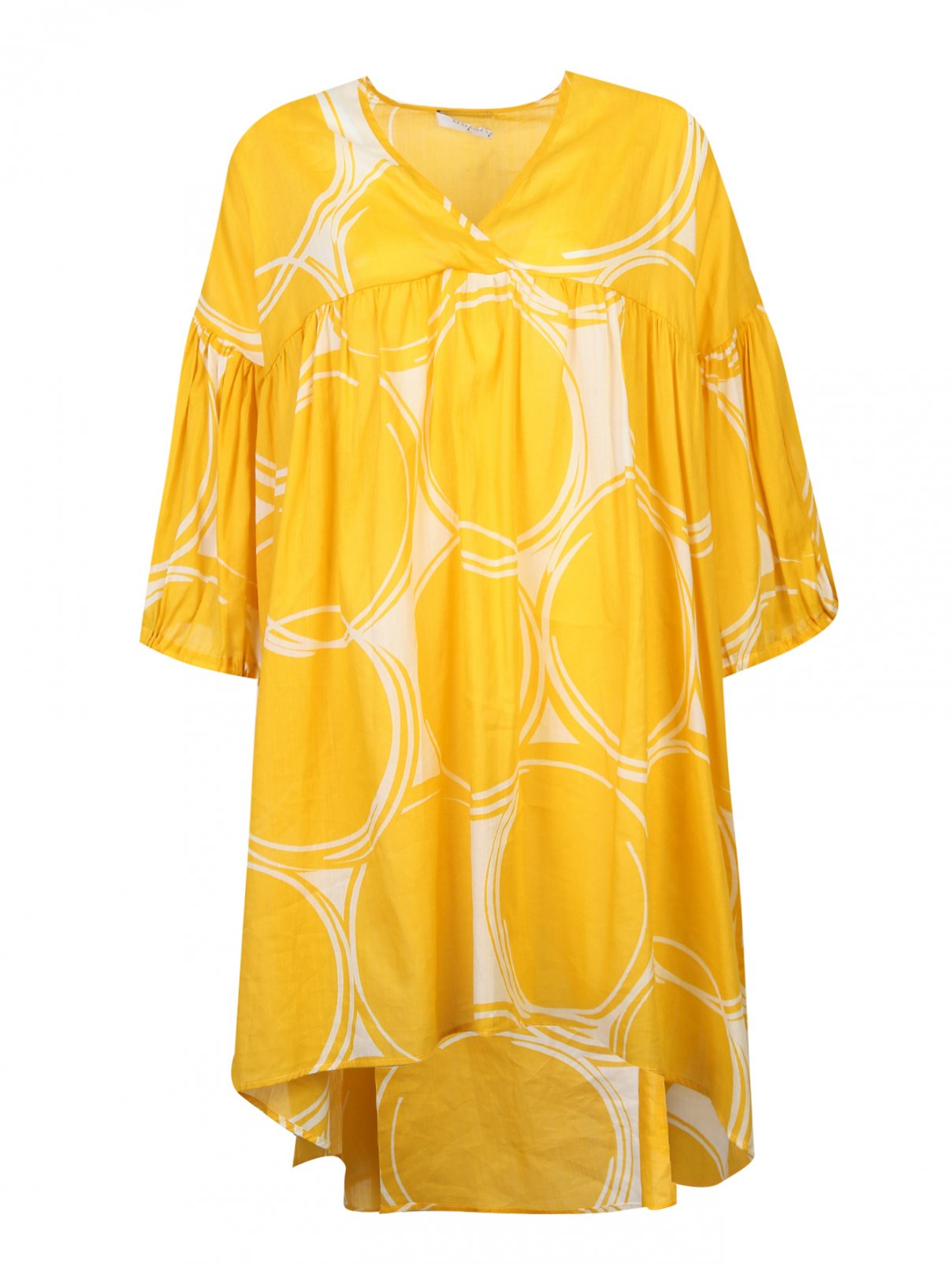 Платье из смесового хлопка свободного силуэта Beatrice  –  Общий вид