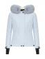 Укороченная пуховая куртка на поясе Moncler  –  Общий вид