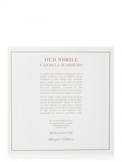 Свеча Oud Nobile Slate 500 г Home Fragrance Dr. Vranjes - Общий вид
