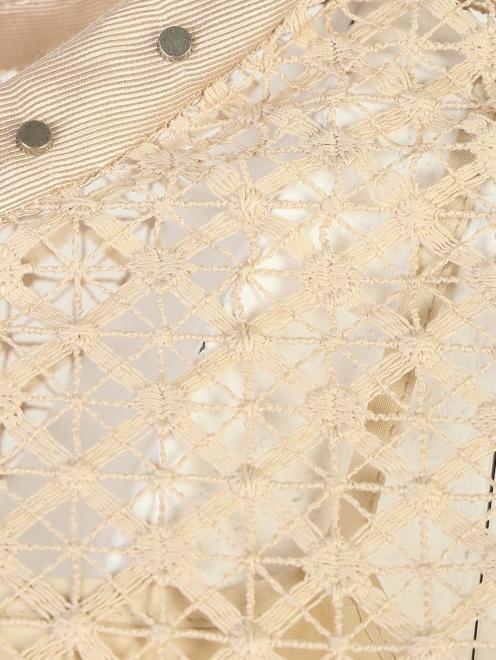 Блуза кружевная с декором Alberta Ferretti - Деталь