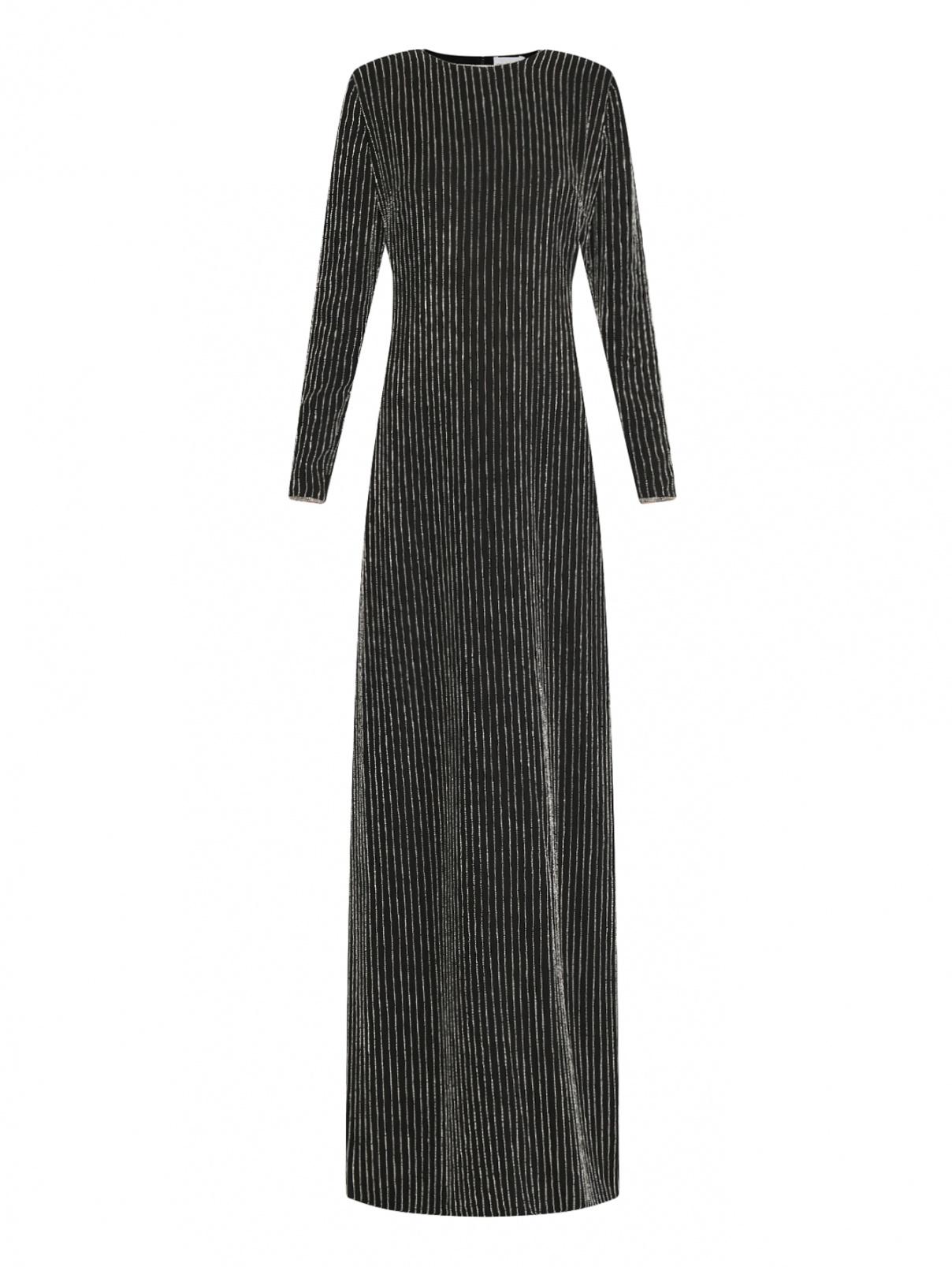 Платье-макси декорированное бисером Elisabetta Franchi  –  Общий вид