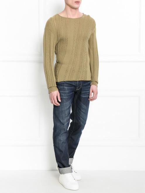 Джемпер из хлопка и шелка - Общий вид