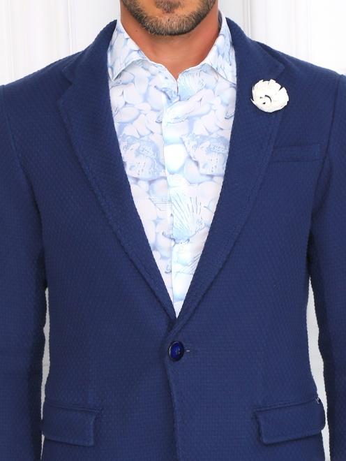 Пиджак из фактурного хлопка - Модель Общий вид1