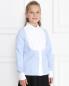 Рубашка из хлопка с фактурным жабо Aletta Couture  –  МодельВерхНиз
