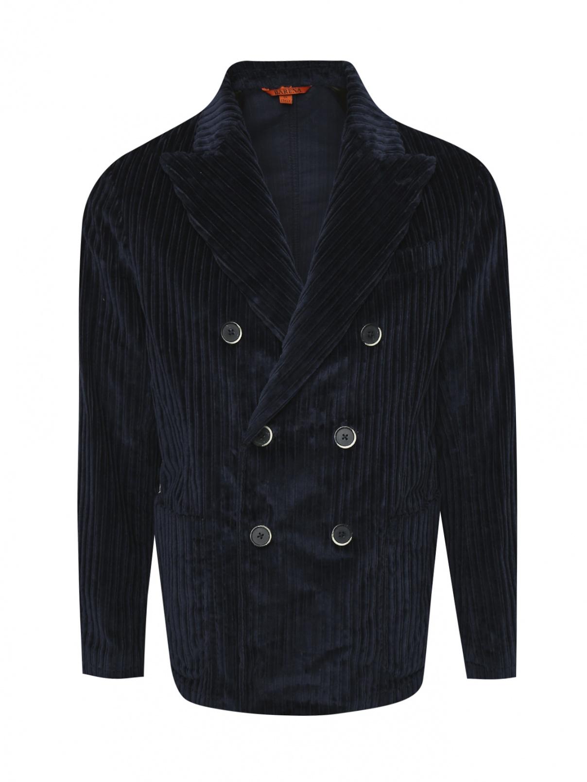 Пиджак двубортный из хлопка Barena  –  Общий вид
