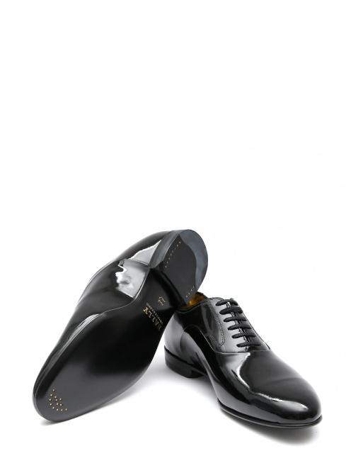 Туфли из лаковой кожи на шнурках - Обтравка5