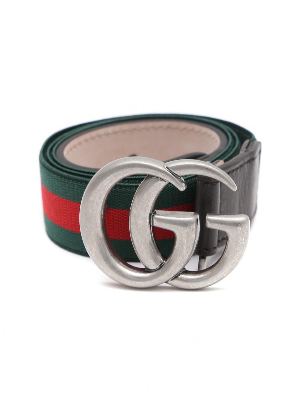 Ремень-резинка с кожаной вставкой Gucci  –  Общий вид