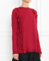 Джемпер из шерсти с воланами из шелка Red Valentino  –  Модель Верх-Низ