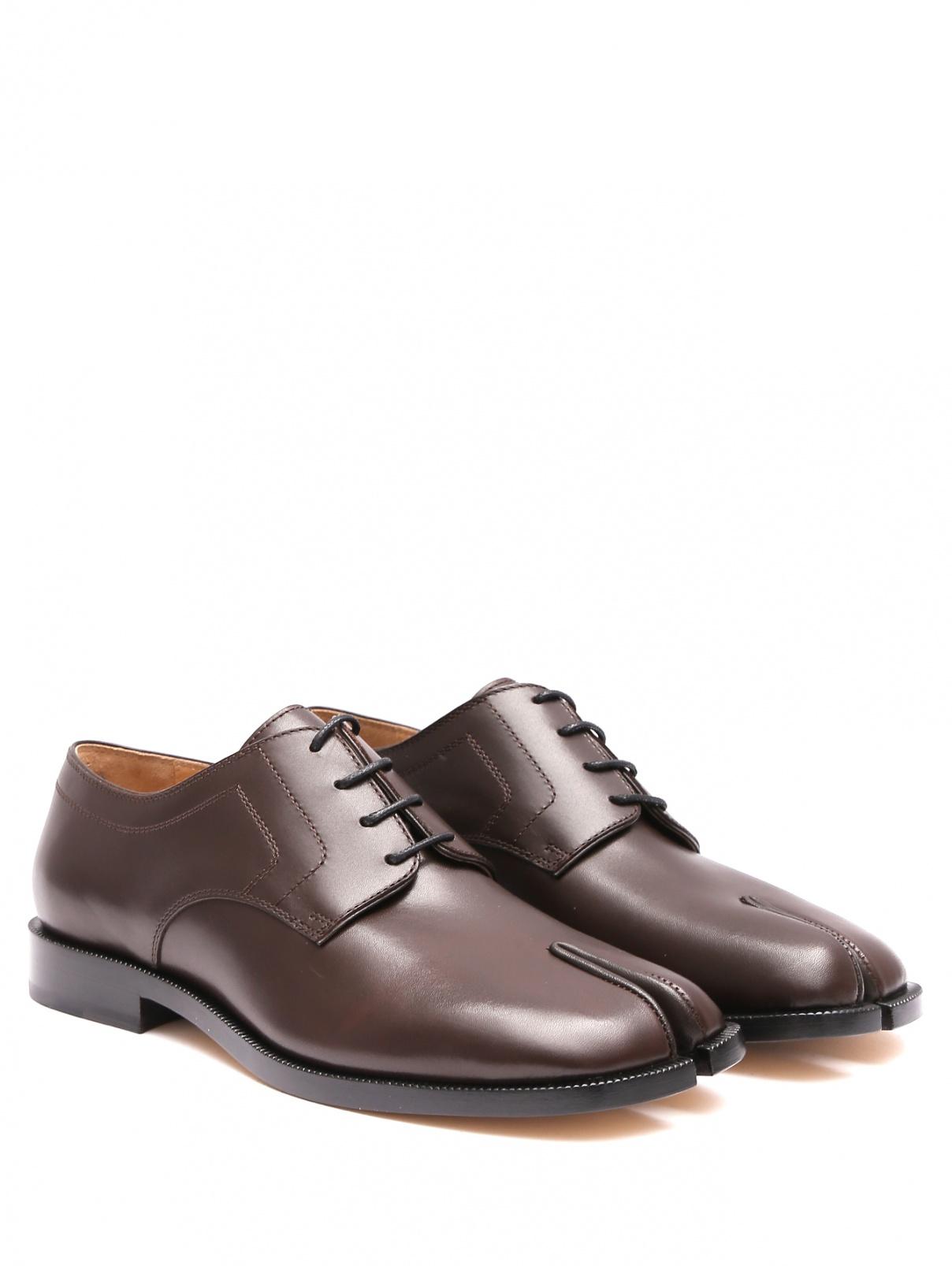 Ботинки Tabi из гладкой кожи на небольшом каблуке Maison Margiela  –  Общий вид