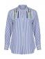 Блуза из хлопка в полоску с вышивкой бисером Dorothee Schumacher  –  Общий вид