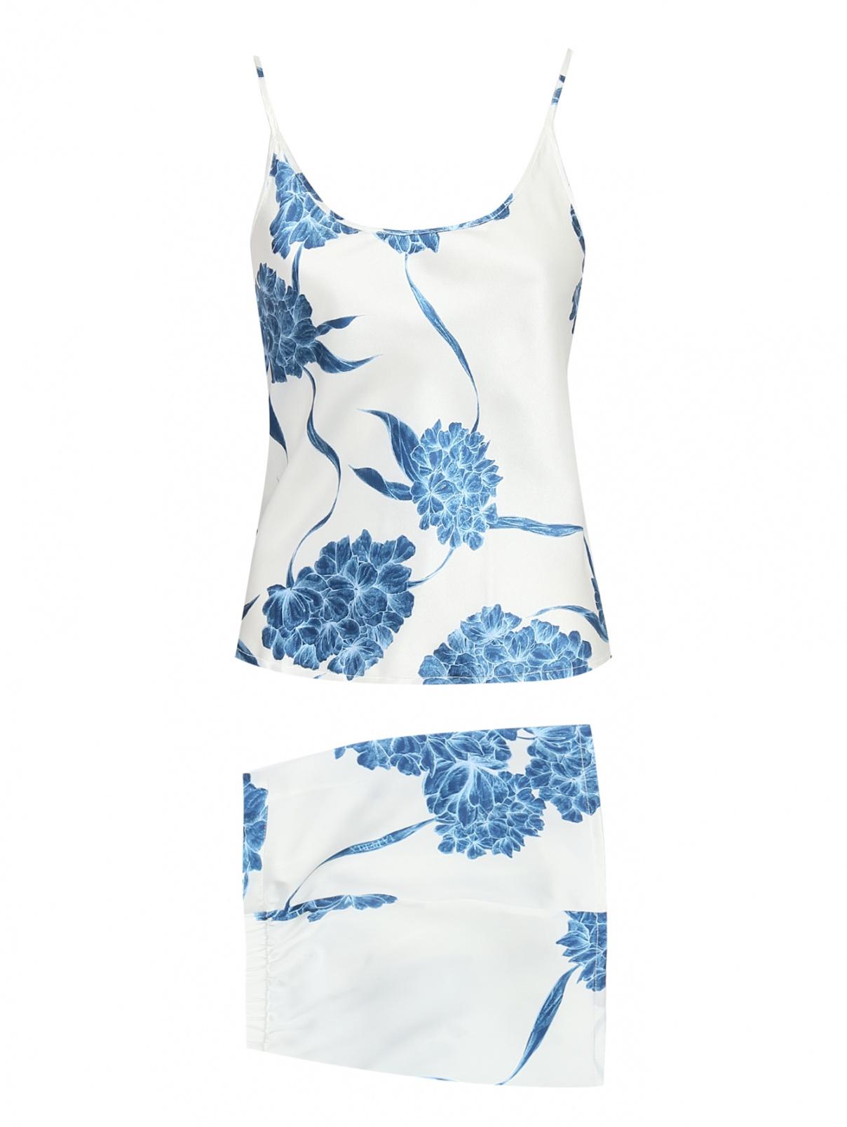 Пижама из шелка с узором La Perla  –  Общий вид