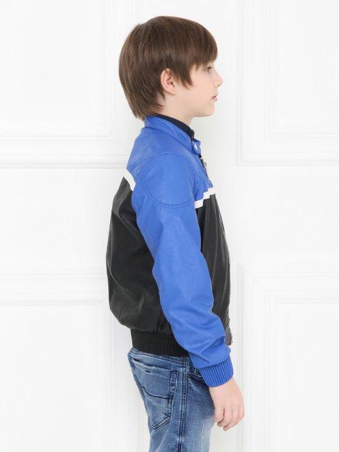 Куртка байкерская из экокожи Freedomday - МодельВерхНиз2