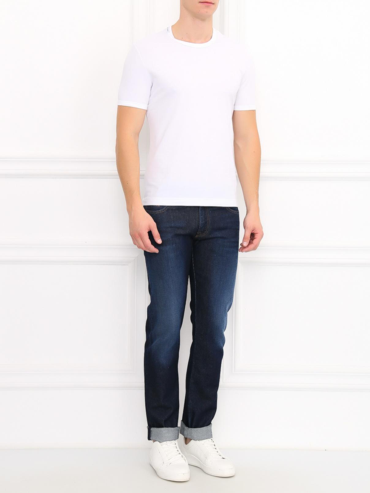 Базовая футболка из хлопка Dolce & Gabbana  –  Модель Общий вид