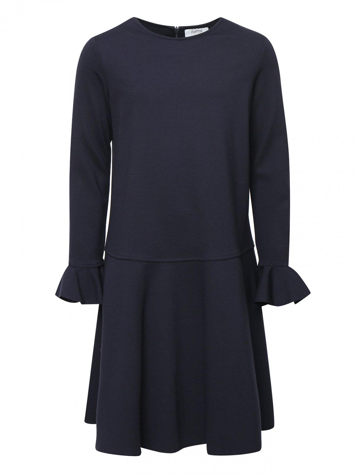 Платье трикотажное с оборками Aletta Couture  –  Общий вид