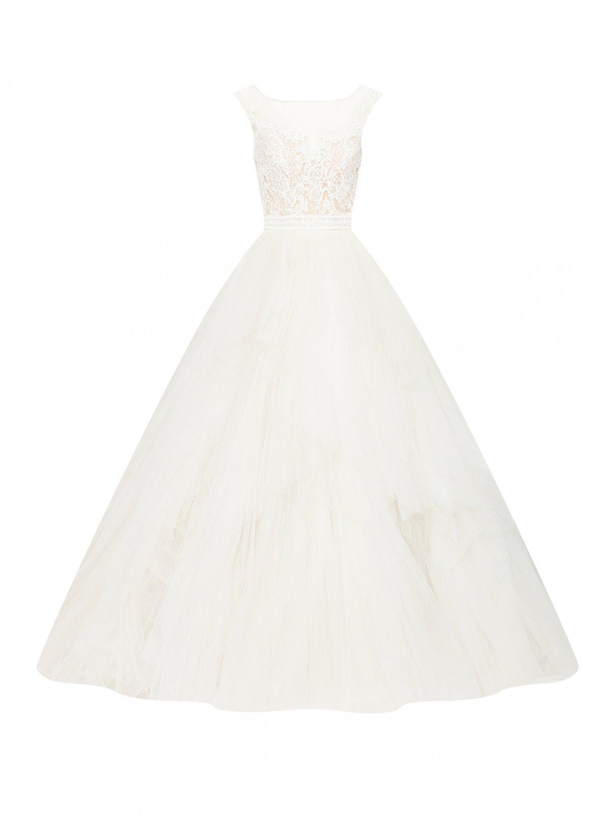 Платье макси с пышной юбкой и вышивкой на лифе Rosa Clara  –  Общий вид