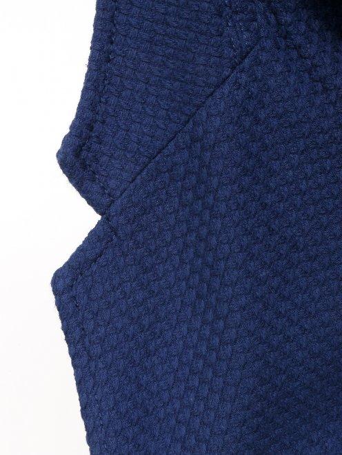 Пиджак из фактурного хлопка - Деталь1