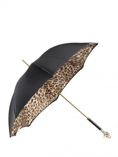 Зонт-трость с контрастными вставками из кристаллов Swarowski Pasotti - Общий вид