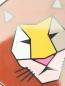 Брошь пластиковая с анималистичным принтом Marina Rinaldi  –  Деталь