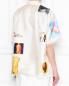 Рубашка из шелка с узором и короткими рукавами Marni  –  МодельВерхНиз1