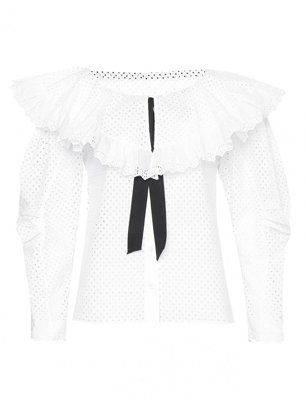 Блуза из смешанного хлопка с объемными рукавами Philosophy Di Lorenzo Serafini  –  Общий вид