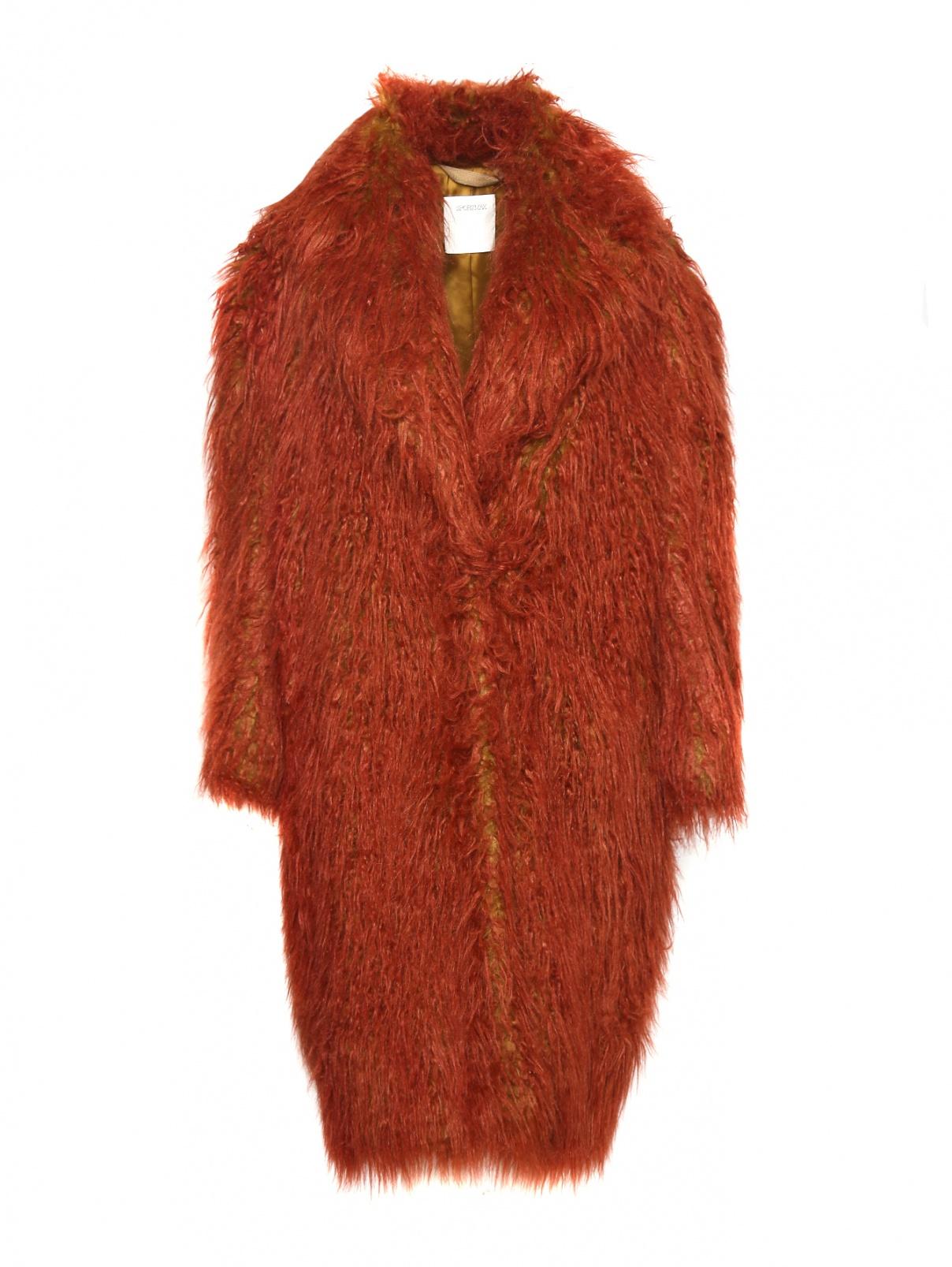 Пальто из искусственного меха с карманами Sportmax  –  Общий вид