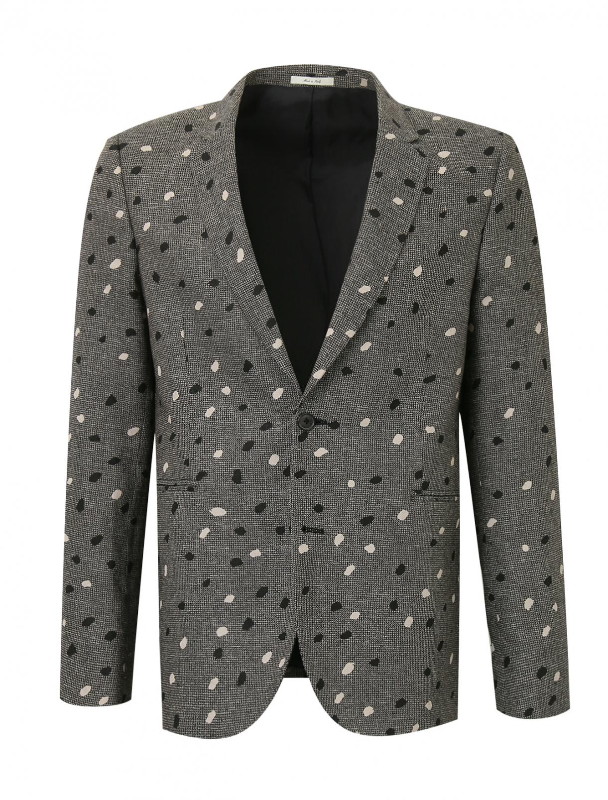Пиджак из льна с узором Paul Smith  –  Общий вид