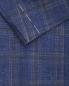 Пиджак из шерсти шелка и льна с узором клетка LARDINI  –  Деталь