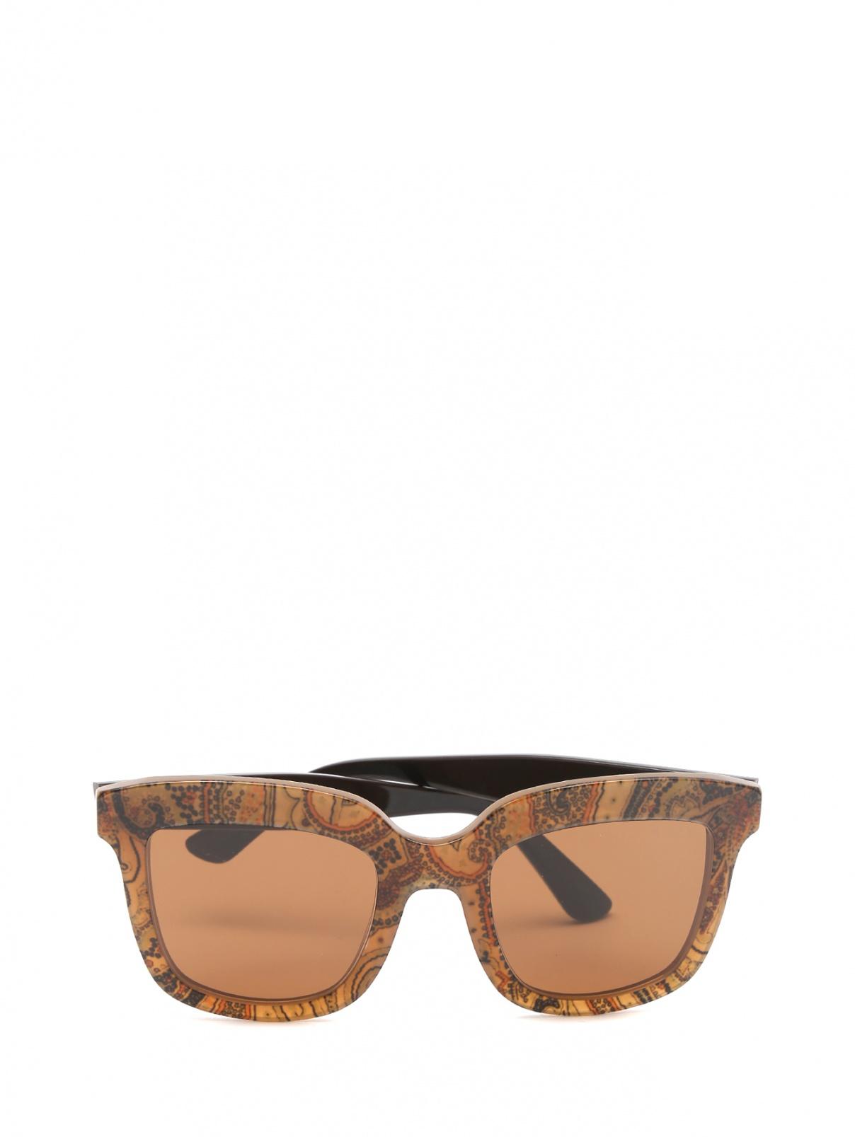 Солнцезащитные очки из пластика с узором Etro  –  Общий вид